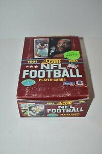 1991 Score NFL Footbal Series 1 Trading Card Box - 36 Sealed Packs