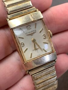 Longines 10K Yellow Gold Filled, Vintage Wrist Watch AS IS!! NR
