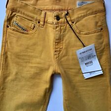 BNWT LADIES DIESEL BOOTZEE MUSTARD YELLOW SLIM BOOT JEANS W27 L36 (hj320)