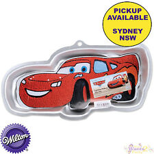CARS LIGHTNING MCQUEEN PARTY SUPPLIES BIRTHDAY CAKE PAN WILTON BAKING TIN MOLD