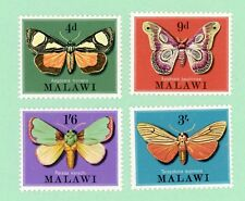 Malawi,  4 Stamps,  SC 138 - 141, Moths of Malawi , 1970, MPH