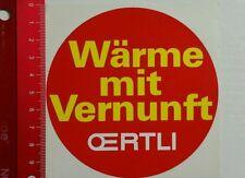 Aufkleber/Sticker: Oertli Wärme mit Vernunft (14041629)