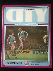 1977/8 MANCHESTER CITY V WEST HAM UNITED