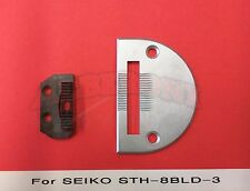 New Needle Plate and Feed Dog Set for Seiko Sth-8Bld-3