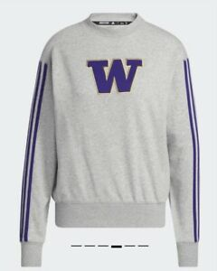 Washington Huskies adidas Vintage Crew Sweatshirt / Men's Medium