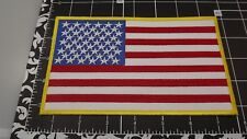 """IRON-ON PATCH """"American Flag"""" USA BRAND NEW CLOSEOUT QUALITY MADE"""