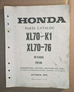 1976 HONDA  XL70~K1 / XL 70-76  / OFFICIAL  MOTORCYCLE PARTS MANUAL / HC43683