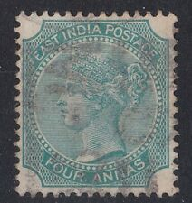 BC1028) India 1865 Queen Victoria 4a Green SG 64. Nice fine used