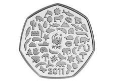 WWF 50p Coin world wildlife fund animals 2011