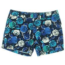 NEW Womens Stunning Tommy Hilfiger Blue Floral Twill Khaki Chino Shorts AU10 W28
