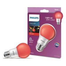 6-pck Philips 60 Watt Equivalent Red Bulb A19 Medium Base Led 8 Watt Holiday