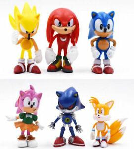 6pcs Sonic the hedgehog Figure New Cartoon kids Toy 7cm xmas gift Free Shipping
