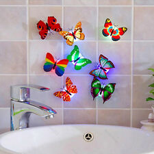 DIY NEW Colorful Changing Butterfly Decor LED Lamp Home Party Wall Night Light