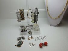 Lot of Vintage Fashion Bohemian costume jewelry-clip earrings, necklace,etc