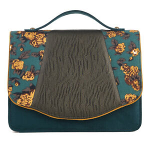 Ruby Shoo Olive Belfast Satchel Mini Briefcase Bag (Matches Daisy Heels) Handbag