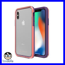 LIFEPROOF Slam, stylish streamlined drop protection case, iPhone X, Coral/Lilac