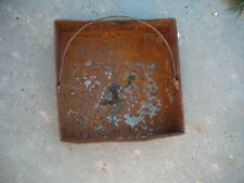 ANTIQUE BAILED METAL ASH CLEAN OUT DRAWER WOOD COAL STOVE BASE BURNER 15x15