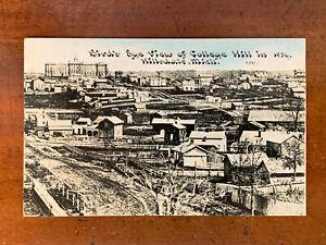 Michigan, MI, Hillsdale, Bird's Eye View College Hill in 1856, C.U. Williams