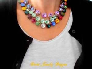 Anna Wintour Multi-colors Choker Necklaces w/ Swarovski Rivoli Crystals