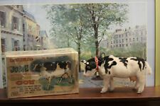 Vintage Battery Operated Josie The Cow Tin Toy In Box Beautiful Untested