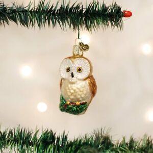 "Old World Christmas Glass Blown Ornament, (#16094) Christmas Owl , 3"""