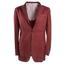 NWT $6995 KITON Lightweight Unstructured Cashmere Sport Coat 38 R Burgundy Red