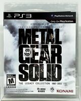 Metal Gear Solid: The Legacy Collection (NO Artbook) - PS3 - Brand New