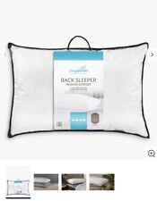 Snuggledown indietro Sleeper Cuscino Bianco Supporto Medio per Back & Lavabile Lato