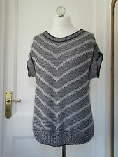 """Per Una Navy Silver Made in Italy Over Jumper Size Large Bust 46"""""""