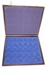Muenzkassette:2002/72:275x230x25 mm für 30 Münzen oder Kapseln 30 mm