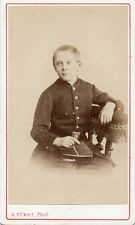 Photo carte de visite: E.Fürst ; Collégien en Uniforme , vers 1868
