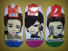 INFINITE SOCKS 3 pairs - DESTINY Infinitize KPOP POP top seed tell me