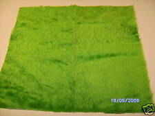 "Quality Light Green Fur Fabric 18"" X 20""  46cm x 51cm"