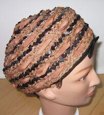 Vintage Hattie Carnegie Brown / Black Fashion Church Hat Dress Tea Hats Ex Cond