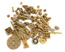 LEGO Pearl Gold Bricks Mixed Bulk Lot 84 Pieces GOOD VARIETY Parts Plates Tiles
