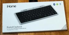 New iHome Wireless Bluetooth Keyboard with Numeric Keypad Universal Silver