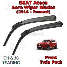 (16-19) Seat Ateca Aero Wiper Blades / Front Windscreen Flat Blade Wipers