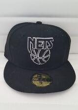 New York Brooklyn Nets New Era 59Fifty NBA  Baseball Hat Cap size 7 Authentic
