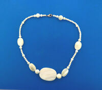 """Mother of Pearl Shell Beaded Necklace Strand Choker 16"""""""