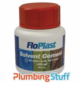 FLOPLAST Solvent Cement 125ml - Plumbers PVC Weld Glue