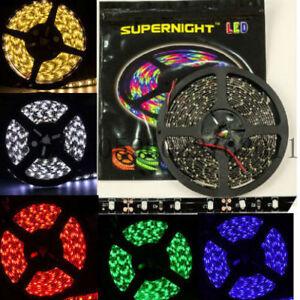 5M 300LEDs 3528 / 5050 Red/Blue/Green/White LED Strip Light Black PCB Waterproof