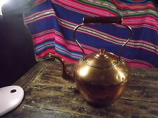 ANTIQUE COPPER KETTLE 13IN TALL A FEW DINGS BUT MADE WITH DOVETAILED JOINTS