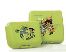 "Tupperware Dora Safari Sandwich Keeper 5""x4""x2"" Plus Bonus Snack Container New"