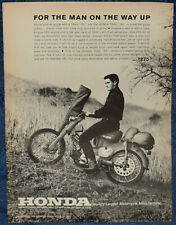 "ORIGINAL Advertising ""HONDA Trail ""55"" 4-Cycle OHV MOTORCYCLE"" 1-p Magazine 1963"