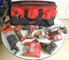 Milwaukee 28Volt V28 Cordless Tools Set Sawzall Circular Drill Light Bag Charger