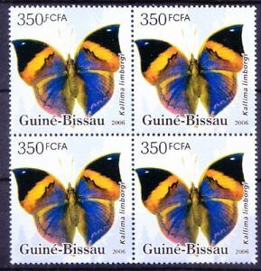 Guinea Bissau 2006 MNH Blk, Peninsular Malaya Leaf Butterflies