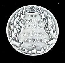 "Rare ""The Croquet Association Silver Medal"" Prize Trophy. Hurlingham Club 1932."