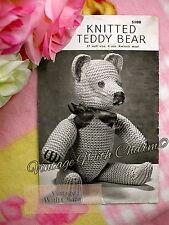 Vintage 1940s Toy Cuddly 17 Inch Teddy Bear Knitting Pattern.  JUST £1.99