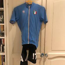 Sportful Italia Cycling kit Blue Jersey, Black bib shorts - both size small