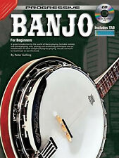More details for banjo beginners tutor music lessons teach book with cd - h8